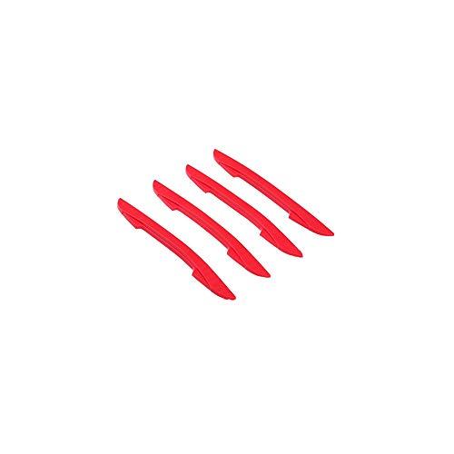 FZTLLL 4 Stücke Auto Aufkleber Autotür Schutz Kantenschutz Puffer Scratch Sturzbügel Streifen Auto Stoßstange Eckenverkleidung Moulding Guards