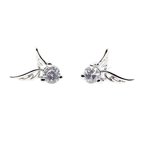 Süße Ohrstecker aus 925erSterling-Silber, Engelsflügel - 925 Ear-gel