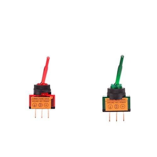 Descripción:       - Clasificación: 12V / DC 20A. - Interruptor con luz indicadora LED. - Tipo de contacto Single Pole Single Throw (SPST), Terminales de 3 Pines, On Off Rocker. - Protegido contra el polvo y el agua a baja presión, gran funci...