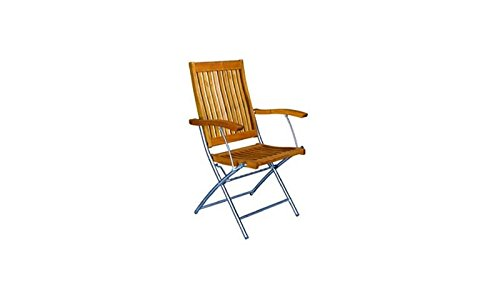 Moderner Klappstuhl / Gartensessel klappbar mit Edelstahl-gestell und Sitz- und Rückenfläche...