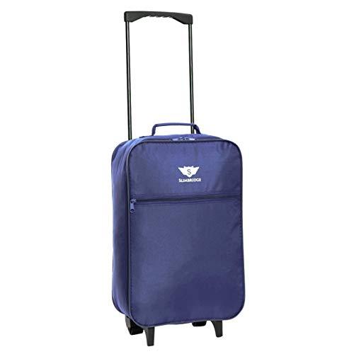 Slimbridge Leichtgewicht Handgepäck Trolley Koffer Bordgepäck Reisekoffer Superleicht Gepäck mit Rollen - 55 cm 950 Gramm 27 Liter auf 2 Rädern, Barcelona Blau