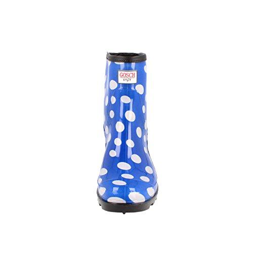 GOSCH SHOES SYLT Da Donna Ragazza Stivali di gomma mit Pois 7107-501 in 4 colori Blu