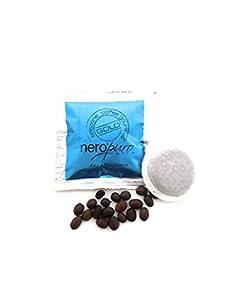 50 Decaffeinated Paper pods ESE 44 mm Nero Puro Caffe'