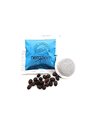 50 Decaffeinated Paper pods ESE 44 mm Nero Puro Caffe'