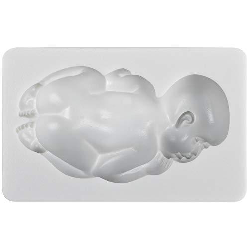 musykrafties Großes Schlafendes Baby-Silikon-Form für Herstellung der Dekoration von Fondant-Kuchen Seifen
