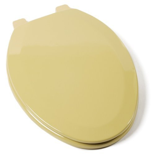 Comfort Seats C1B4E253 Deluxe Molded Wood Toilet Seat, Elongated, Harvest Gold by Comfort Seats