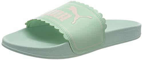 PUMA Niñas Leadcat FTR Petals Jr Zapatos de Playa y Piscina, Verde (Mist Green-Pink Rosewater 01), 37 EU