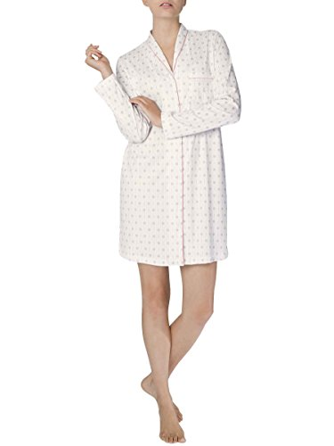 Calida Damen Nachthemd Julianne Star White