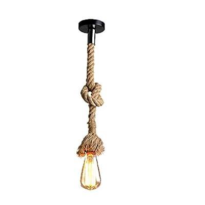 Lampadario ragno corda di canapa/stile industriale retrò/soggiorno sala da pranzo bar balcone/lampade non includono lampadine