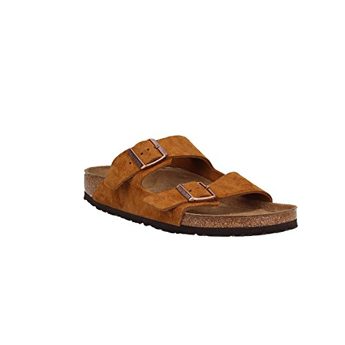 BIRKENSTOCK Sandalen 1.009.526 Arizona SFB VL Mink 46 Braun (Schnalle Leder Sandale Doppel)