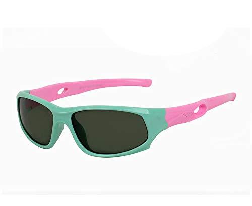 WG Kinder polarisierte Sonnenbrille Baby Sonnenbrille TR90 weiche Jungen Mädchen UV-Schutz UV400 Outdoor Sports Mirror,Blue