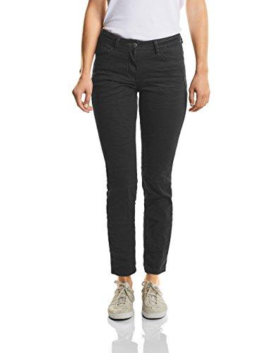 CECIL Damen Straight Jeans Scarlett 370981 Schwarz (Black Denim 10273), W29/L30 (Herstellergröße: 29) (Frauen Schwarze Jeans Beste)