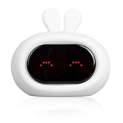 PTICA Light Up Kids Alarm Clock Reloj de lámpara de música de Animales Lindos con Caras Divertidas...