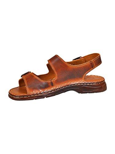 Chaussures Pour Homme Sous Forme De Sandales Confortables En Cuir Avec Le Bout Devant Ouvert Ayant Une Forme Orthopedique Modele 816 Brun