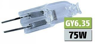 75w Sockel (Halogen-Stiftsockellampe McShine 12V/75W, Sockel GY6,35, 2000h)