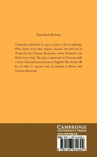 Penthesilea Paperback (Cambridge Plain Texts)
