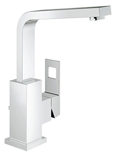 GROHE Eurocube | Badarmatur - Waschtischarmatur | EcoJoy,  hoher Auslauf, mit Zugstange | 2313500E