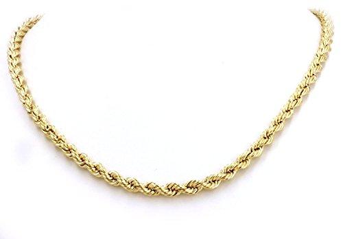 14 Karat / 585 Gold Kordelkette Gelbgold Unisex - 2.50 mm. Breit - Länge wählbar (70) - 14k Herren Armband Gelb Gold