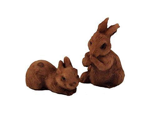 Melody Jane Puppenhaus Braun Hasen Miniatur Haustier Tier Gartenzubehör 1:12