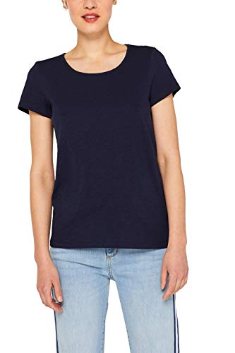 edc by ESPRIT Damen 059Cc1K009 T-Shirt, Blau (Navy 400), X-Large