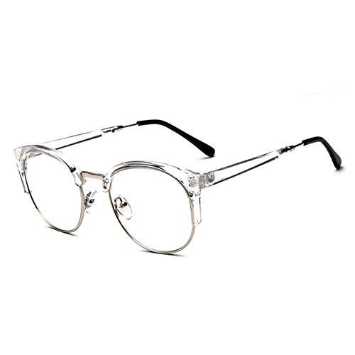 NECCT Transparente Metall halb umrandeten Sonnenbrille Frauen männer Luxus Leopard Sonnenbrille im freien einkaufen Kunststoff Brille,Transparent