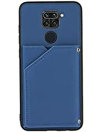 Funda para teléfono móvil con tarjetero para Xiaomi Redmi Note 9 (azul)