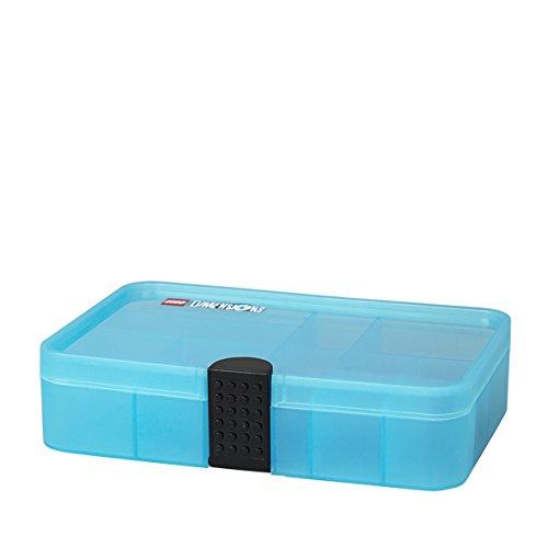 LEGO Dimensions Aufbewahrungsbox, Sortierbox / Aufbewahrungskasten mit Fächern, durchsichtig blau
