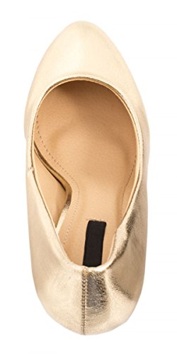 Elara High Heels Gold Pumps Stiletto Damen Abendschuh Metallic rSgqtSx