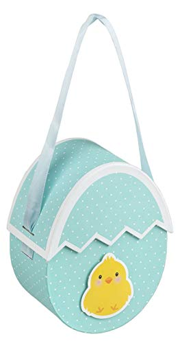 Idena 30204 - Caja de Regalo, diseño de Huevo de Pascua con Pollitos