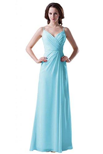 Sunvary corpino Cinghia per Spaghetti-Gowns posteriore aperta donna, a tacco basso, donna Apple Green