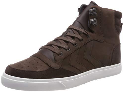 Hummel stadil winter, sneaker a collo alto unisex-adulto, marrone (chestnut 8309), 41 eu