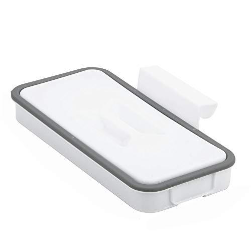 EDFDJED Porte de Placard arrière Suspendu étagères de Rangement Commode Cuisine Porte Sac à ordures Titulaire Sac à ordures Support Poubelle avec Couvercle