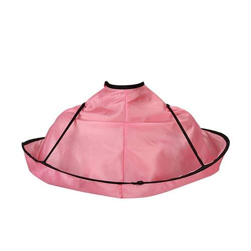 Drotaq - Hair Cutting Cloak Gown Umbrella Nylon Hair Salon Storage Cape Hairdresser Haircut Bib Apron [Pink] (Bib Overalls Pink)