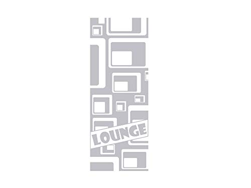 GRAZDesign 980226_57 Fenstertattoo Schriftzug Lounge/Retro | selbstklebende Fensterfolie fürs Wohnzimmer/Eingans-Tür (150x57cm)