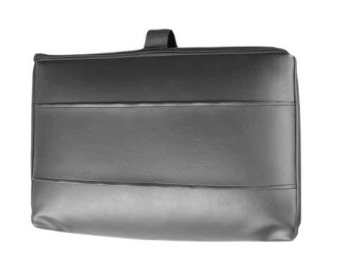 Biona GmbH Reise Matratzenauflage für Flugreisen als Handgepäck aus Viscoschaum mit Tasche Kunstleder (Frottee Weiss, Schwarz)