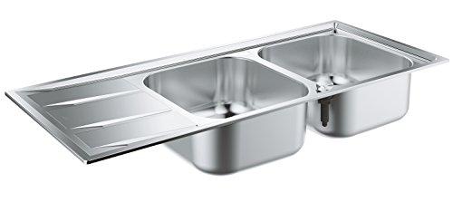 GROHE K400 | Küche - Edelstahlspüle mit Abtropffläche | 2 Becken, edelstahl | 31587SD0