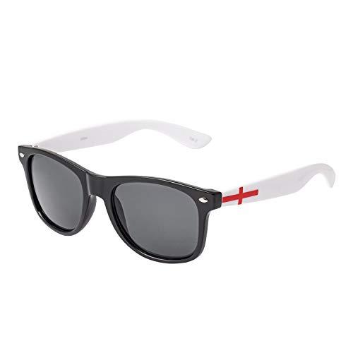 England Sonnenbrillen Flagge St Georges Cross Colored Erwachsene Klassischer Stil Rahmen Herren Damen UV400 Hochwertige Schutzbrille Stilvolle Sonnenbrille Vintage Fashion Retro Unisex Patriotische