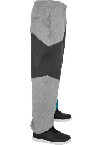 Urban Classics Herren Hose Zig Zag Sweatpants grey/charcoal/turquoise