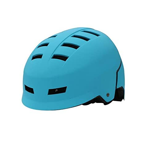 Casque Moto Retro Bleu - ZIMO Casque de Vélo Sport Planche à