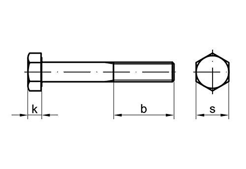 DIN 931 10.9 M10 x 180 2 Stk Sechskantschraube mit Schaft