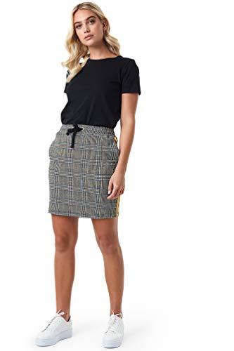NA-KD - Damen Jacquard Miniröcke Check Röcke Multicolor - Belted Check