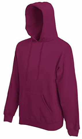 Fruit of the Loom - Kapuzen-Sweatshirt 'Hooded Sweat' XL,Burgundy