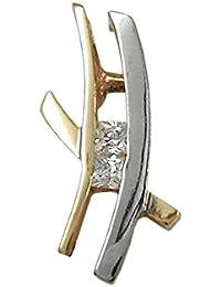 Anhänger Kettenanhänger bicolor mit Zirkonia 9Kt GOLD