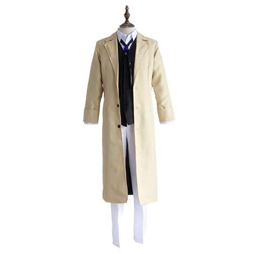 YKJ Anime Charakter Spielen Uniform gelb Detektiv Anzug Anime Charakter Spielen Kostüm Performance Set,Full Set-XL (Gelbe Jacke Detektiv Kostüm)