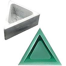 Lembeauty - Molde de Silicona con Forma de triángulo, para Plantas, macetas, moldes