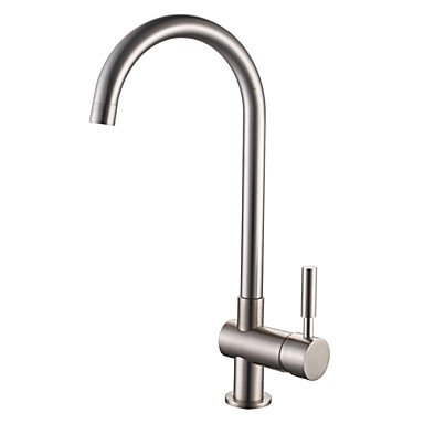 SHUYOU® Contemporary Style Brushed Finish Stainless Steel Centerset Kitchen Faucet