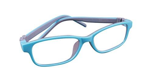 De Ding Kinder Silikon Optische Kurzsichtige Brillen Rahmen hellblau grau