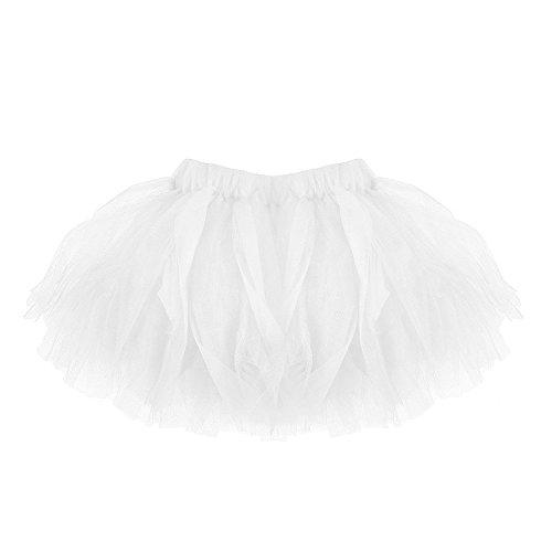 Ulanda Baby Mädchen Tüllrock Tutu Ballettrock Faltenrock, Modern Ballett Verkleiden Fee Tutu Rock Schick Party-Rock Classic 0-24 Monate - One Size (Weiß)