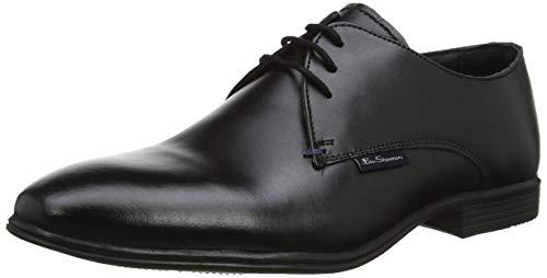 Ben Sherman Herren Ludgate Oxfords, Schwarz (Black Leather 001), 42 EU