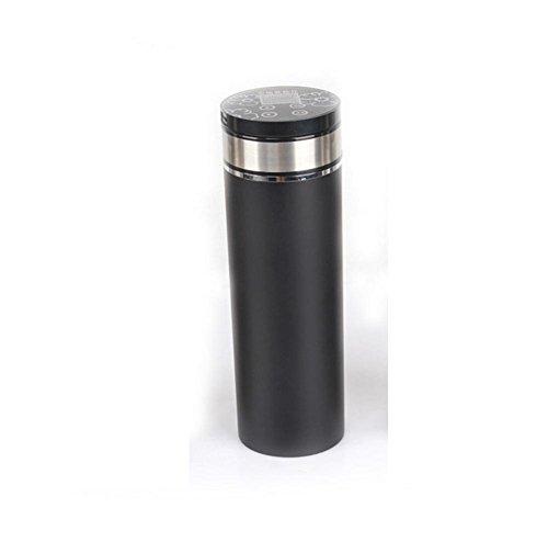 Bouilloire, de voiture Éclaircissante Éclairage anti-cigarette DC 12V Chauffage Tasse Isolation sous vide Écran de température numérique en acier inoxydable-12V24V 100 degrés Noir
